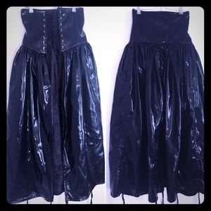 Dresses & Skirts - PVC skirt- lace up midsection-adjustable bottom